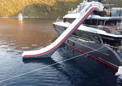 inflatable yacht water slide