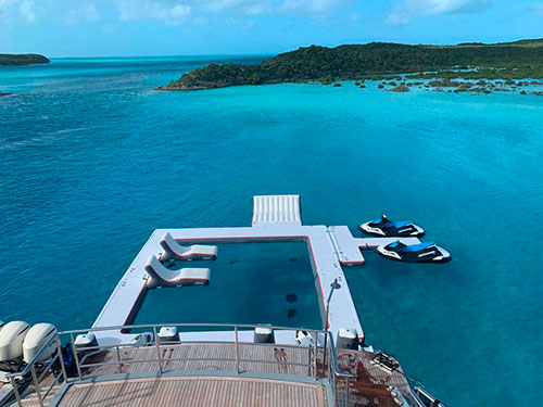 AquaBanas-yacht-inflatable-that's-a-more-funair-jet-ski-wcustom-water-floating-platform-+-inflatable-yacht-pool-float-+-yacht-slide-with-luxury-water-toy-and-yacht-tender